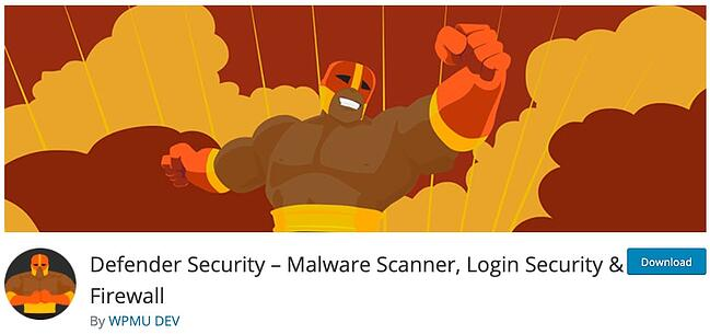 product page for the wordpress security scan plugin defender