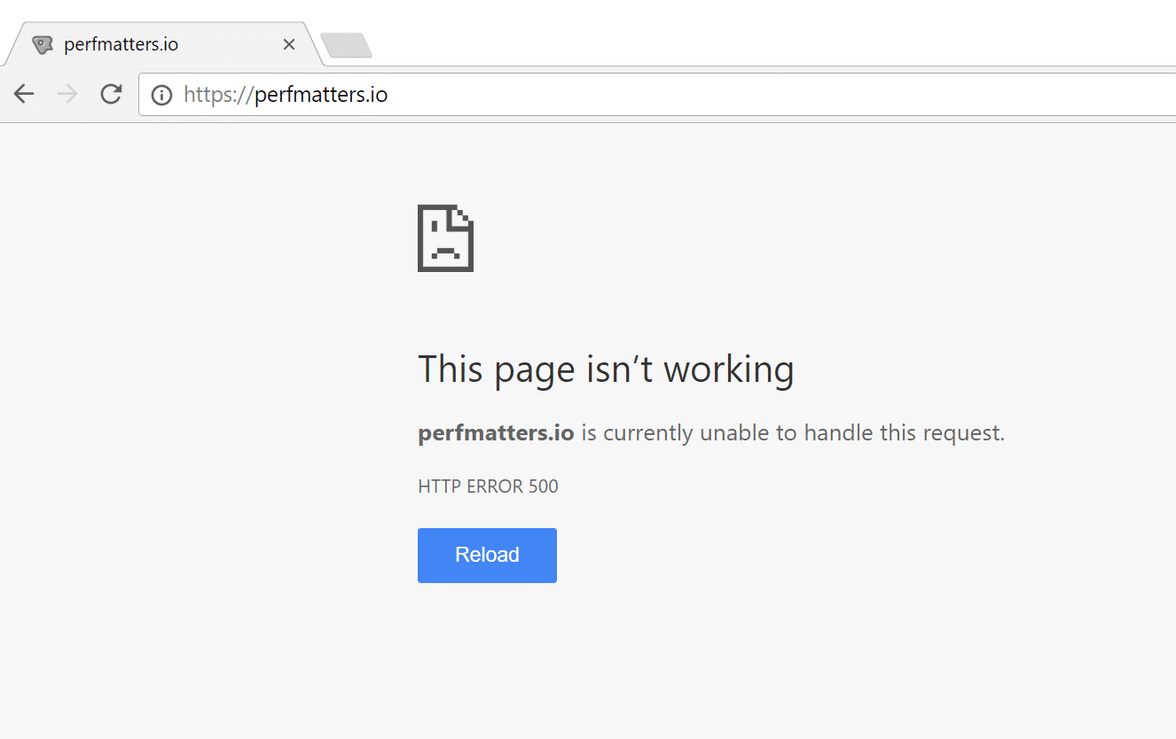 the white screen of death on Chrome