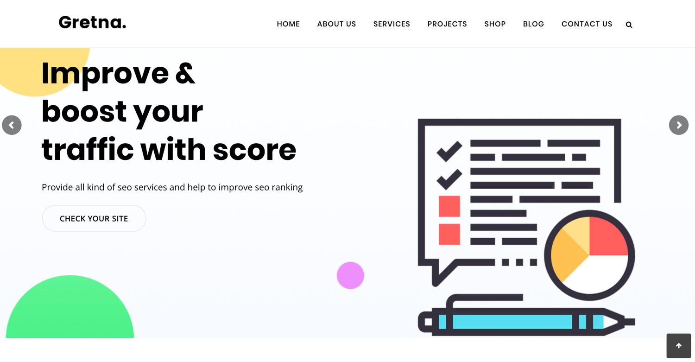 Gretna best wordpress themes seo agencies