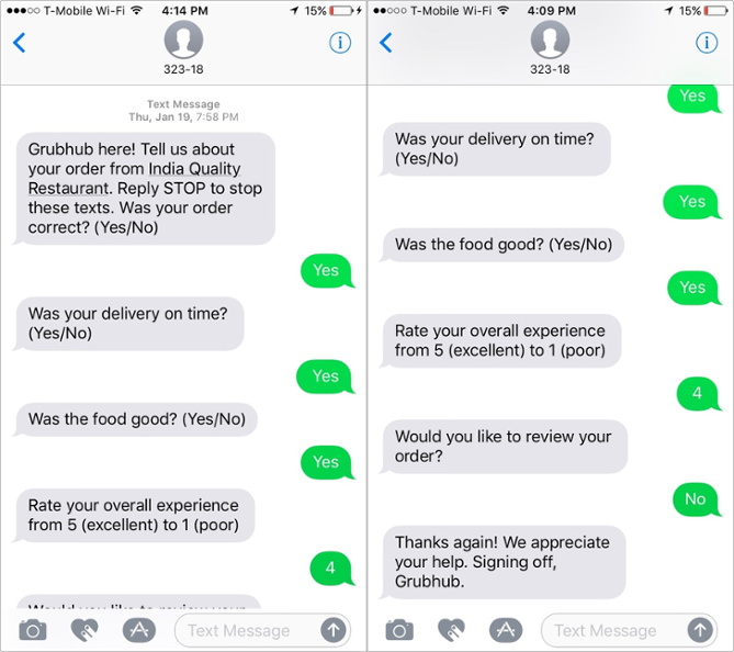 example of customer service text