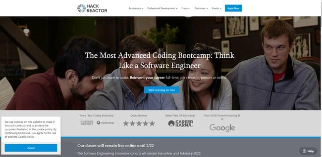 best online coding bootcamp: Hack Reactor