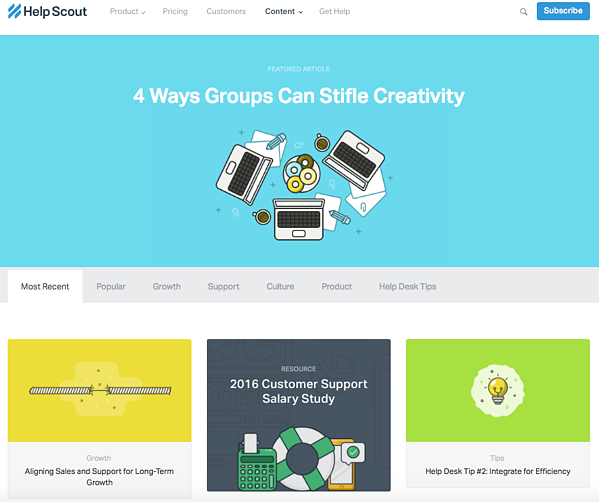 beautiful blog design helpscout
