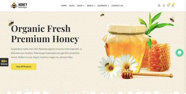 Honey shop demo of best WordPress ecommerce theme CiyaShop
