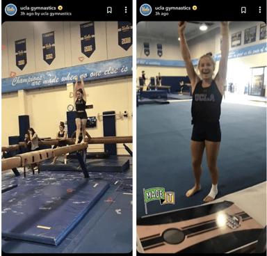 UCLA Gymnastics Team Snapchat Discover Story