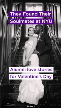 NYU Valentines Day Instagram Story