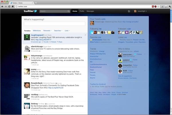 Twitter feed 2010