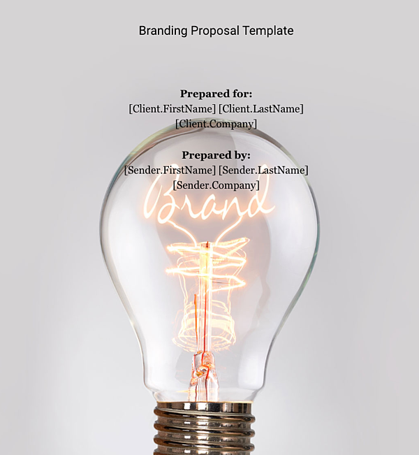 proposal template shows scale