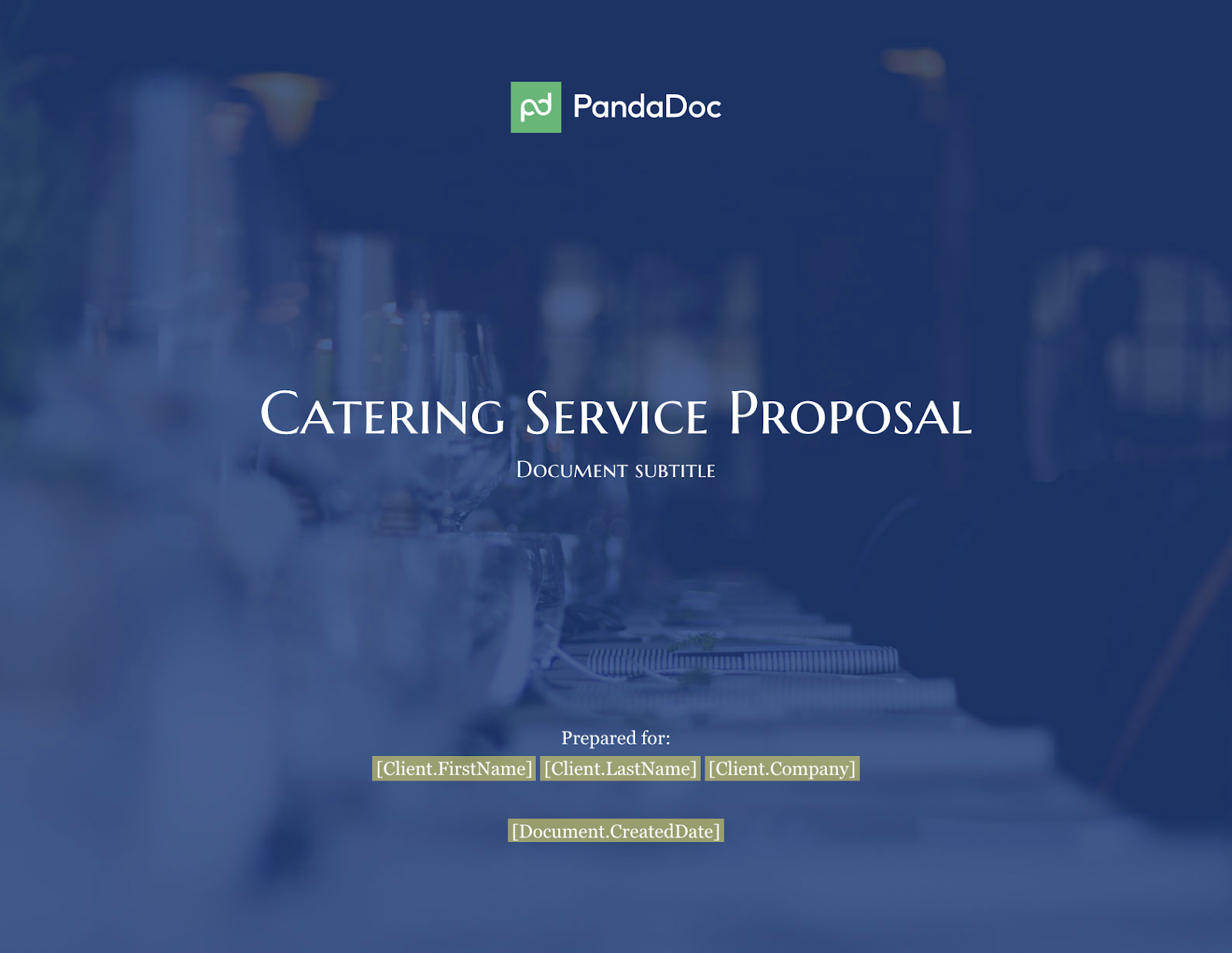 catering service proposal example