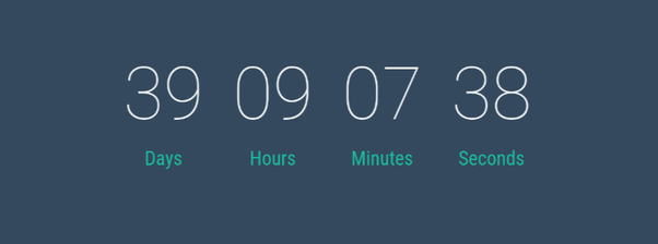 countdown timer for a website under construction page