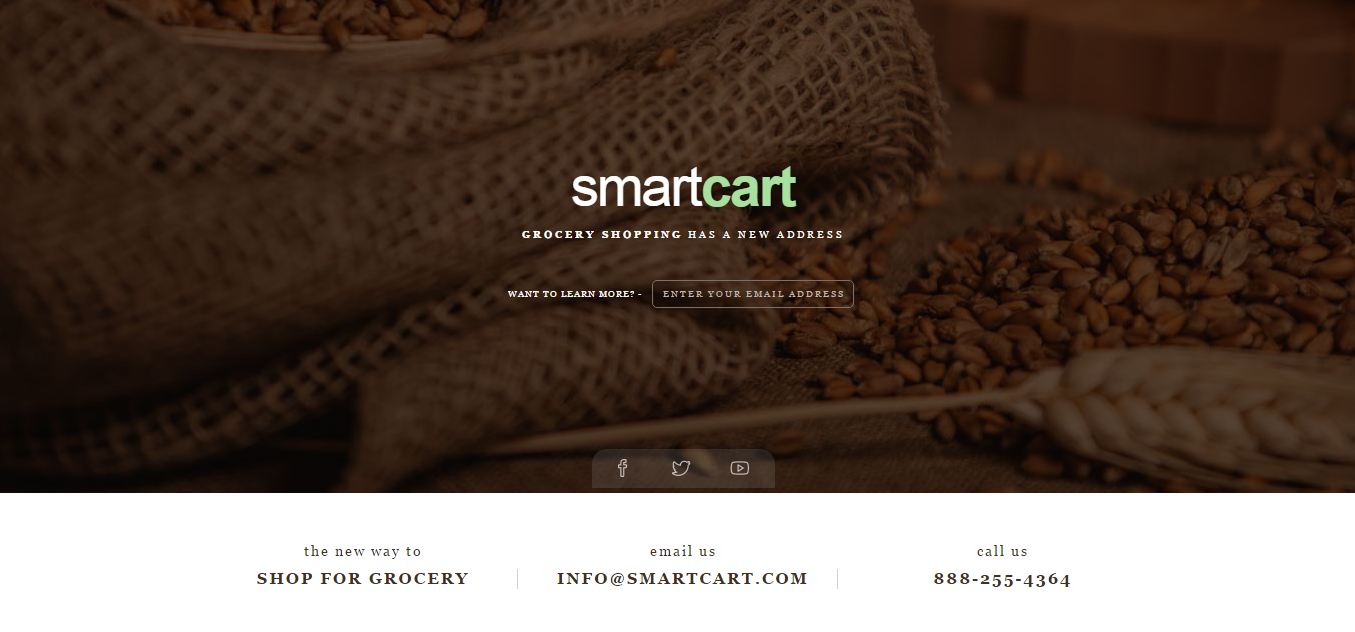 website under construction page using the Smart Cart template