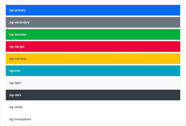 Bootstrap background color utlities for navbar