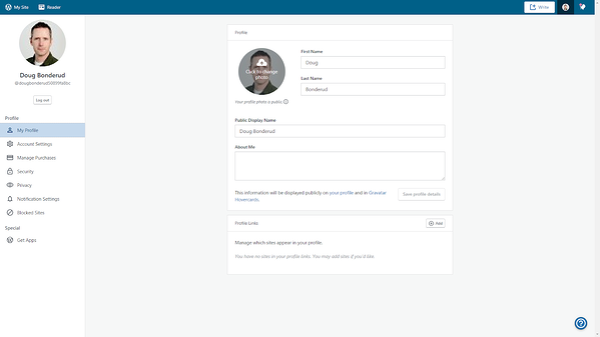 Navigate to Profile in WordPress dashboard.