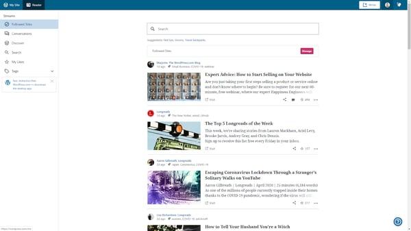 Navigate to My Site in WordPress dashboard.