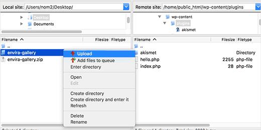 unzip and extract your wordpress plugin