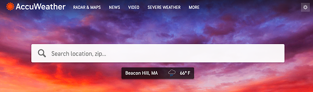 Accuweather's GPS personalization.