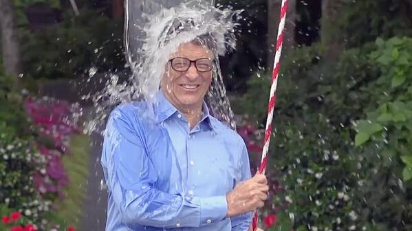 Bill Gates participates in the ALS ice bucket challenge.
