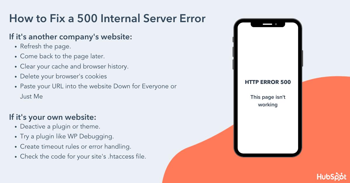How to fix a 500 internal server error