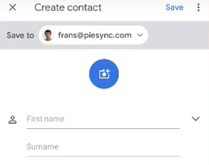 Saving contacts to Android phone