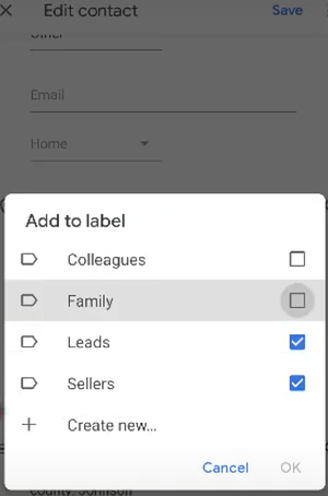 Managing Google labels in your Android