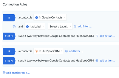 Syncing Google contacts and HubSpot for iPhone