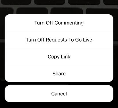 So deaktivieren Sie das Kommentieren auf Instagram Live