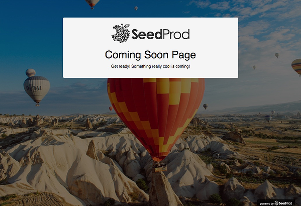 Coming Soon Page on WordPress site with Coming Soon Page, Under Construction & Maintenance Mode plugin by SeedProd