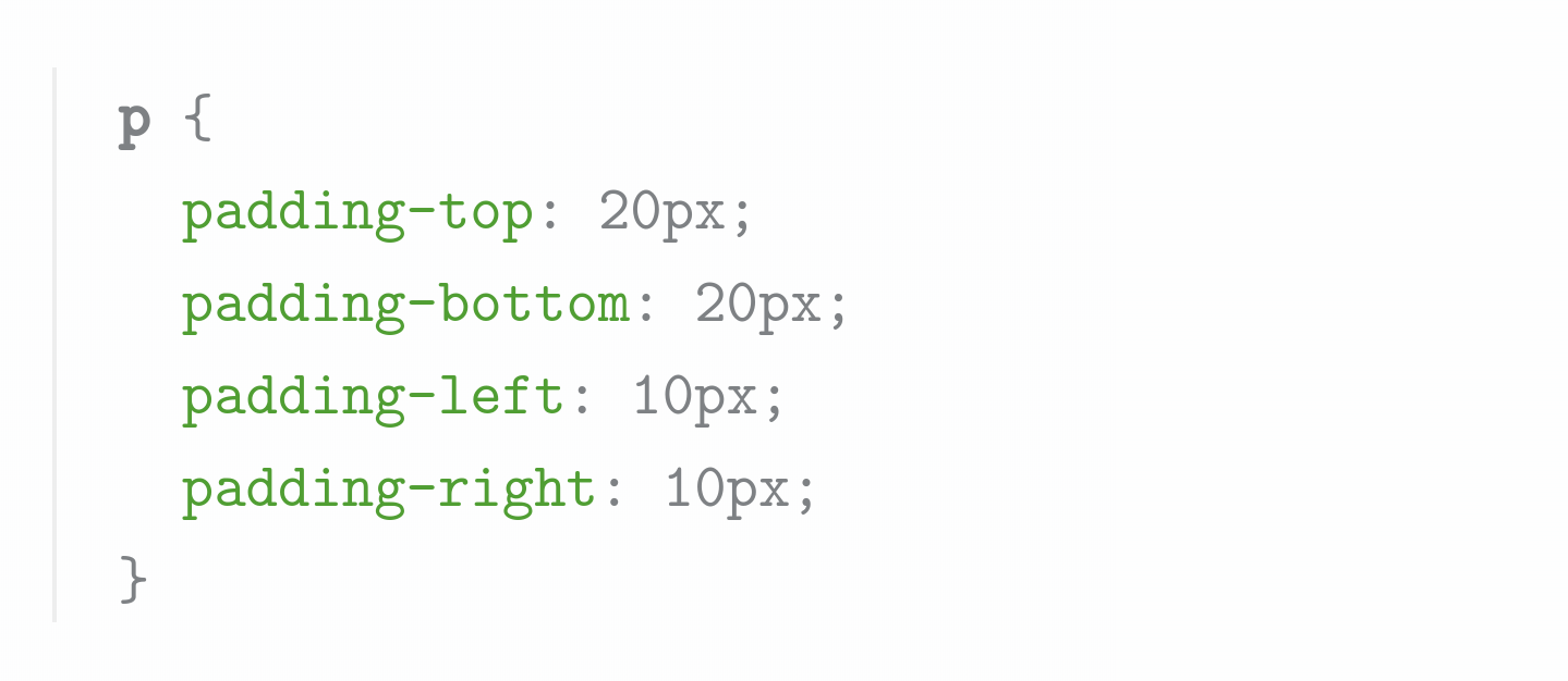 css box model padding example properties