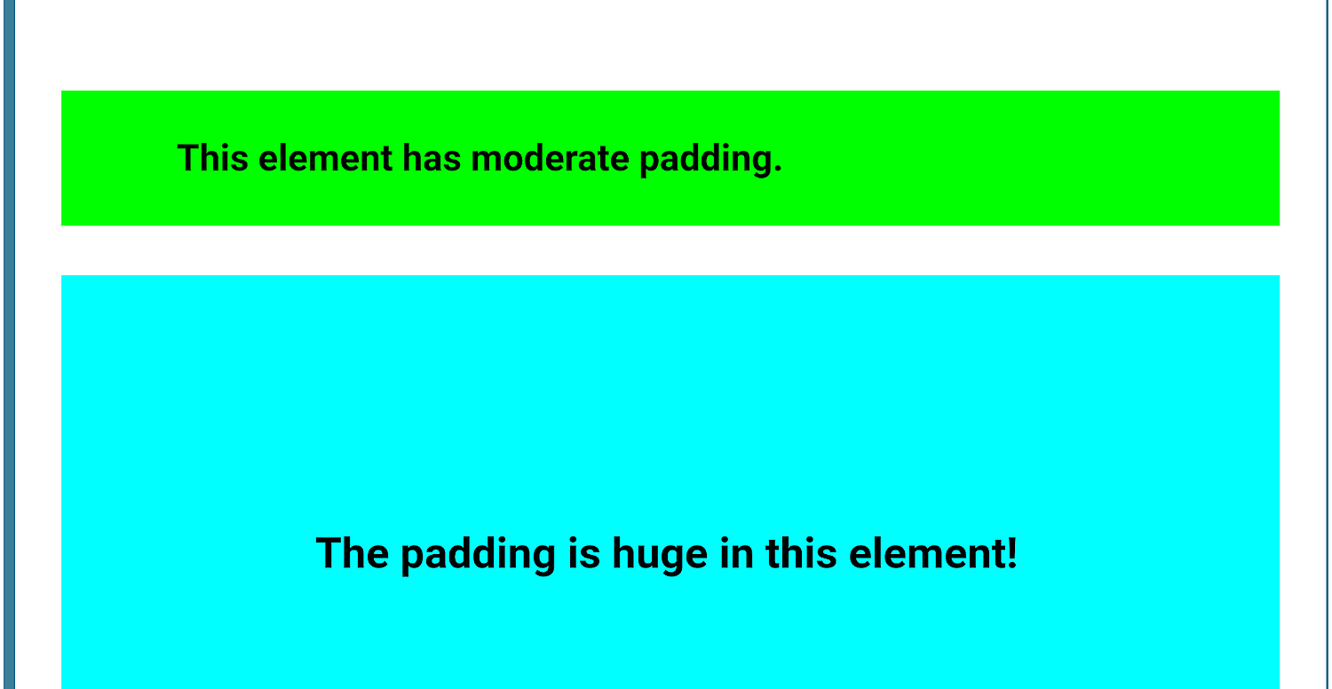 Add Padding in CSS