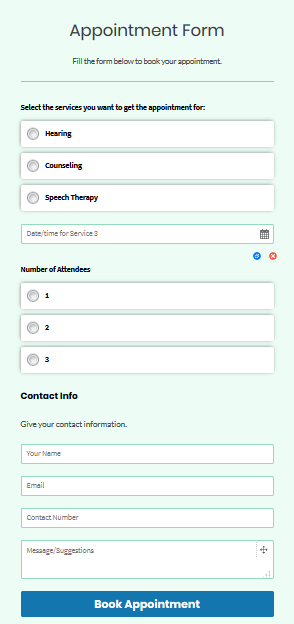 form booking form template appointment booking form template