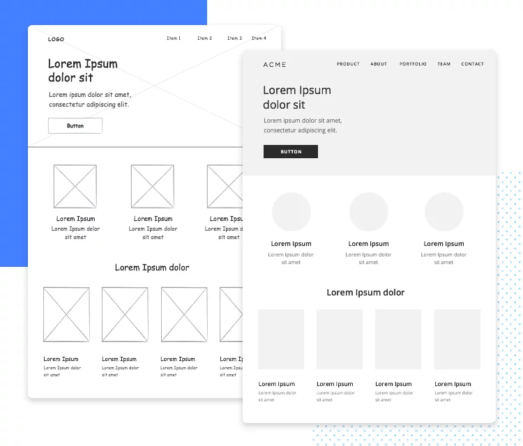 Low-Fidelity Wireframe Examples