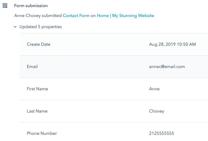 HubSpot Form submission on Wix site created with the HubSpot add-o