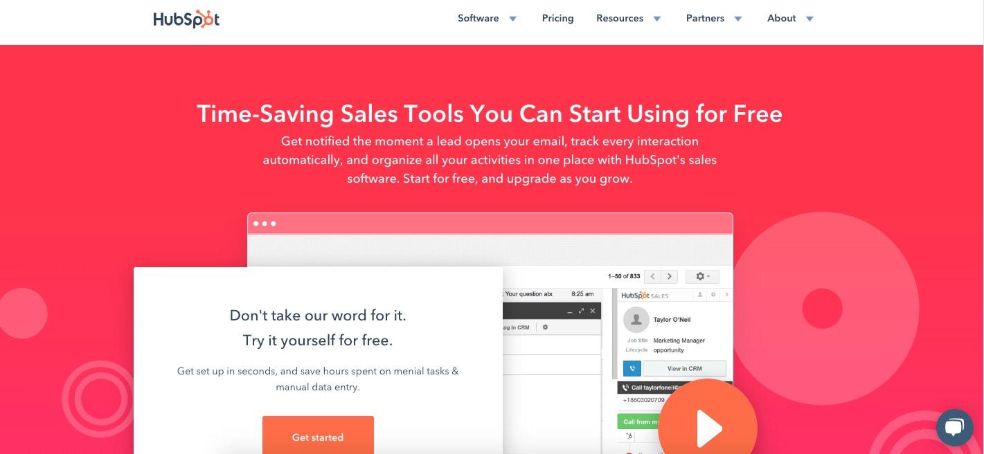 HubSpot Free Sales Tools Productivity Software