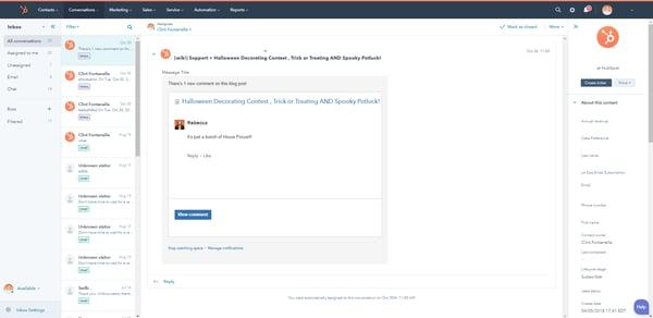 HubSpot Interface 2