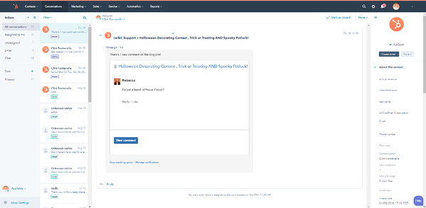 HubSpot Interface 2