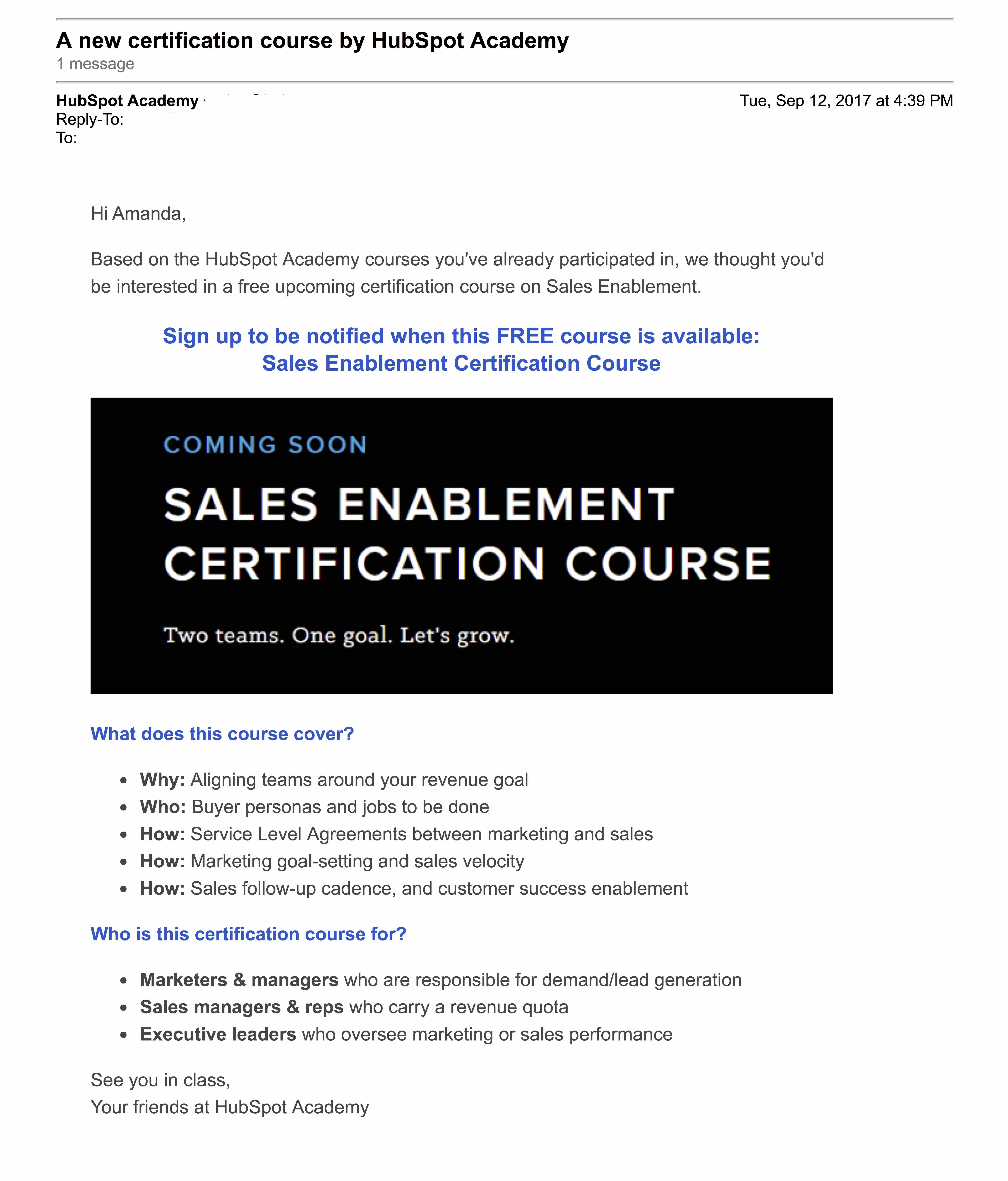 HubSpot Mail  -  HubSpot Academy新推出的認證課程
