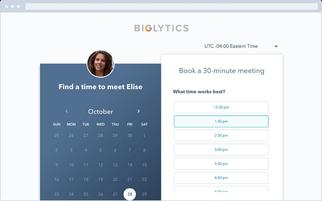 HubSpot Meetings Tool Free Scheduling App