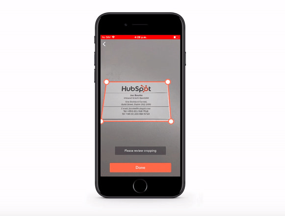 HubSpot Mobile Card Scanner Sales App