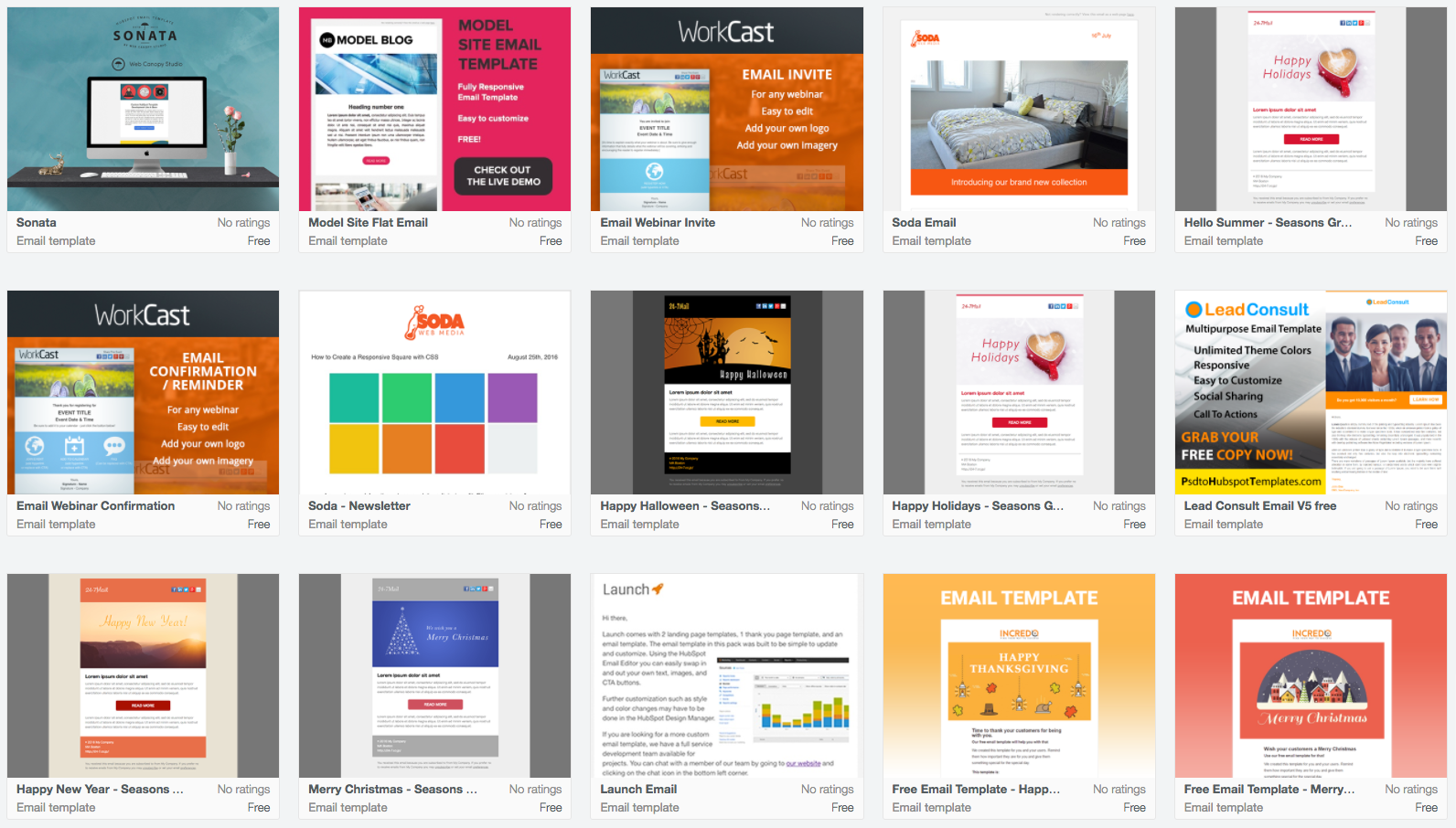 email advertising templates free