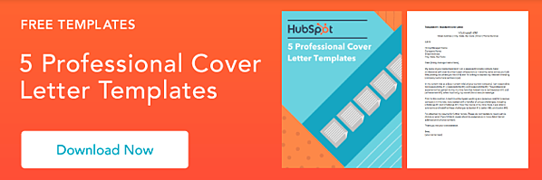 A CTA to download 5 professional cover letter templates