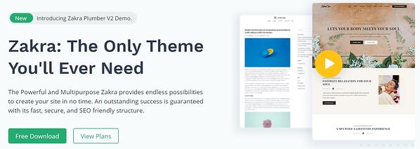 Zakra Gutenberg friendly Wordpress theme