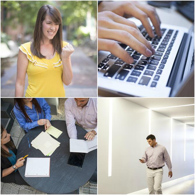 HubSpot stock photo collage