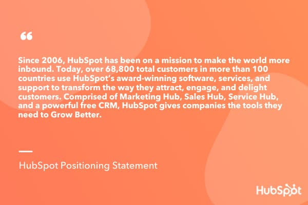 HubSpot's Positioning Statement