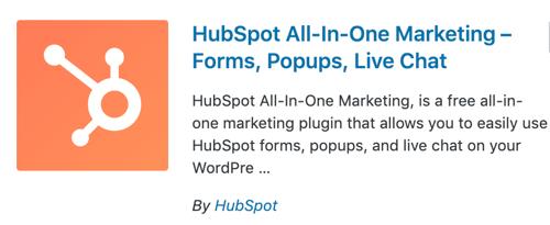 HubSpot WordPress plugin to add live chat