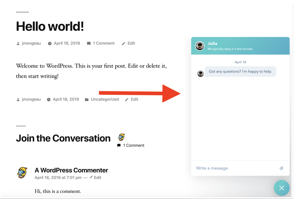 example of HubSpot chatflow to add live chat