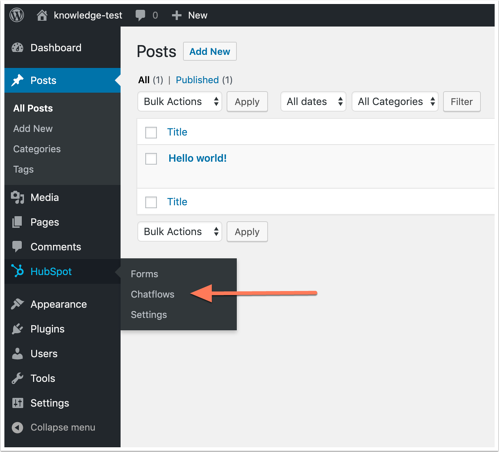 HubSpot chatflows to add live chat