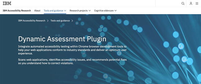 IBM Dynamic Assessment Plugin is an automated accessibility testing tool