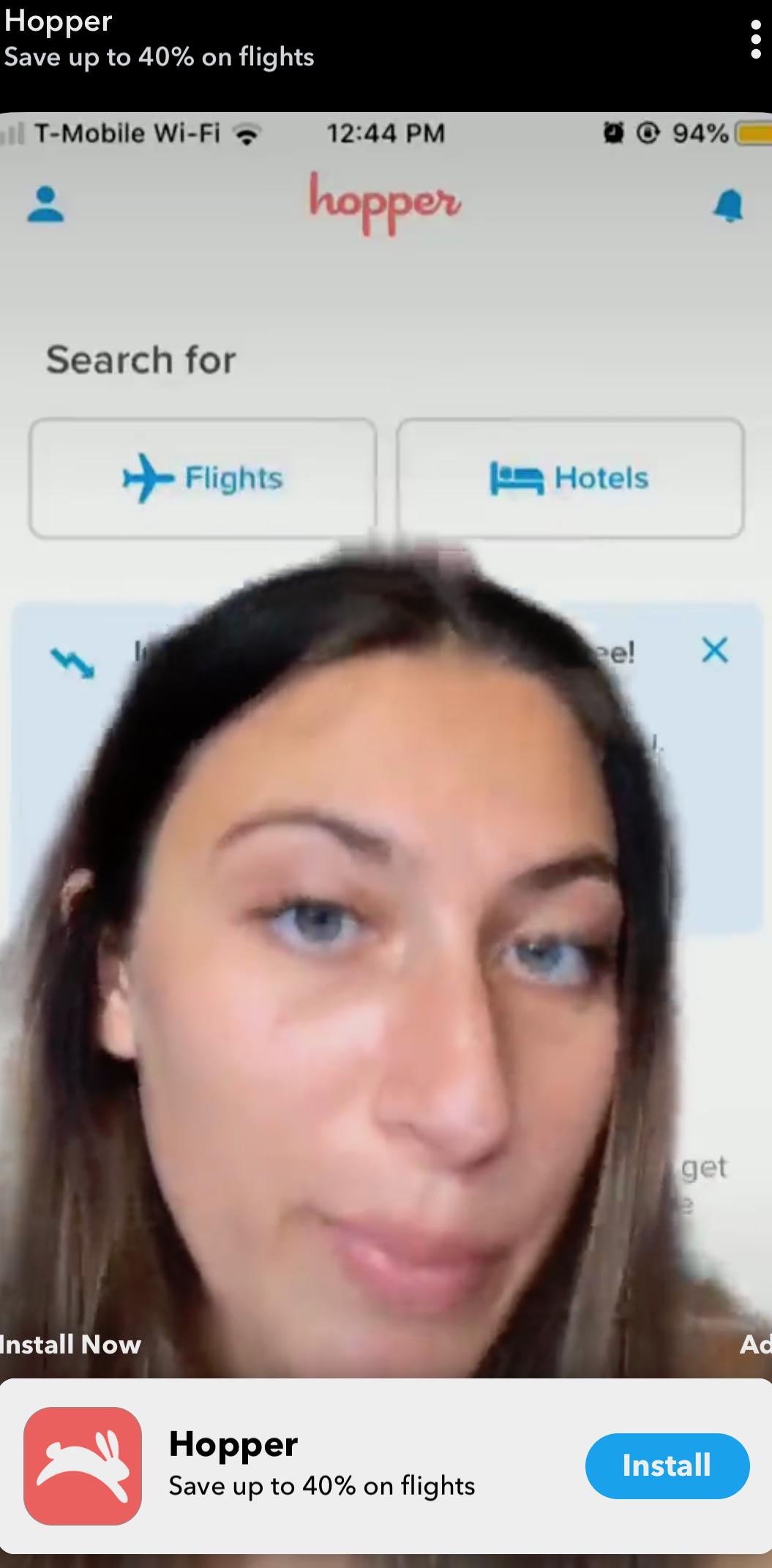 snapchat ad example