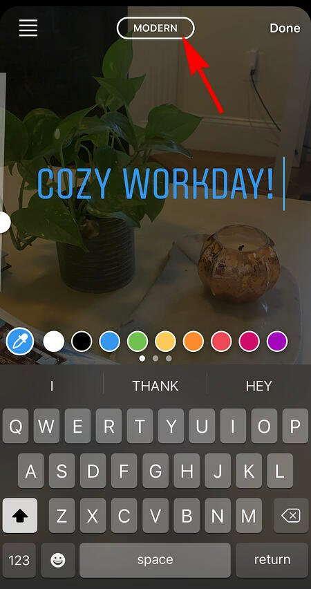 adding text to instagram story