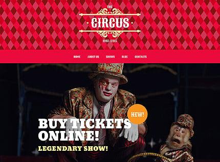 Circus Tent WordPress Theme