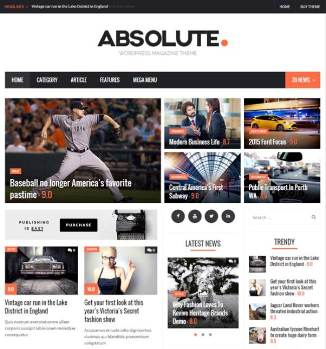 Absolute-WordPress-Theme